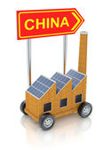 Manufacturing transfer to China — Stock Photo
