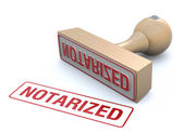 Rubber stamp-notarized — Stock Photo