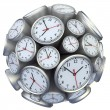 Wall clock concept — Stock Photo
