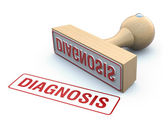 Rubber stamp-diagnosis — Stock Photo