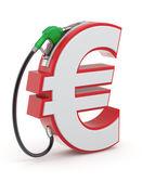 Euro-Zeichen mit der Zapfpistole — Stockfoto