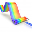 Colorful paint roller — Stock Photo