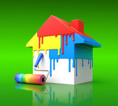 House paint concept — Stock Photo