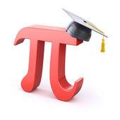 Pi symbol with graduation cap — Stock Photo