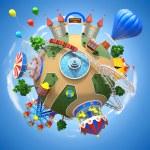 Amusement park planet — Stock Photo #39551219