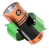 Battery recycling concept — 图库照片