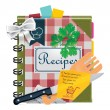 Vector cooking book XXL icon - Stockvectorbeeld