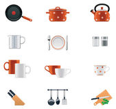 Kitchenware icon set — Stock Vector