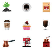 Vector coffee icon set — Stock Vector