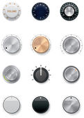 Vector knobs set — Stock Vector