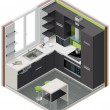 Vector isometric kitchen icon - Vektorgrafik