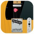 Vector square guitar icon - Stock Vector