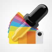 Vector color picker icon — Stock Vector