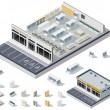 Vector isometric DIY supermarket interior plan - Image vectorielle