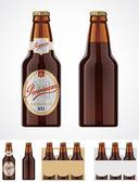 ベクトル ビール瓶アイコン — ストックベクタ