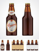 Vector bier fles pictogram — Stockvector
