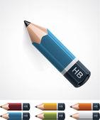 Icono de lápiz de vector — Vector de stock