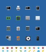 Vector common website icons. Hardware — Stock Vector