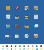 Vector common website icons. Shop — Stock Vector
