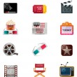 Vector cinema icon set - Stok Vektr