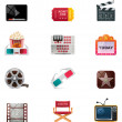 Vector cinema icon set — Stockvektor