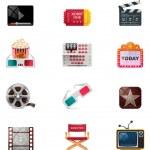 Vector cinema icon set — Stock Vector