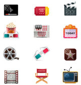 Vector cinema icon set — Stock Vector