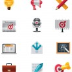 Vector marketing icon set — Stock Vector