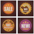 Vector shopping badges set — Stock Vector
