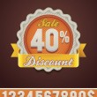 Royalty-Free Stock Vector Image: Vector discount badge