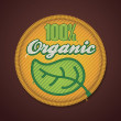 Royalty-Free Stock Vector Image: Vector organic fabric badge