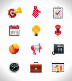 Vector business icon set — Stok Vektör