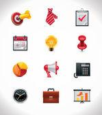 Vector business icon set — Stock Vector