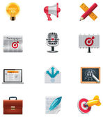 Vector marketing icon set — Vector de stock