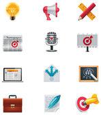 Vector marketing ikonuppsättning — Stockvektor