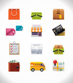 Vector shopping icon set — Stok Vektör