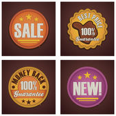 Vector shopping badges set — Stock Vector
