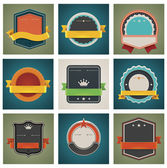 Vector badges set — Vector de stock