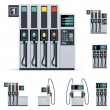 Vector gas station pumps set - Stock Vector