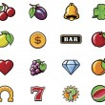 Vector slot machine symbols set — Stock Vector #30491587