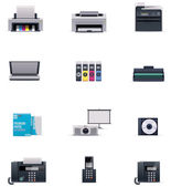 Vector office electronics icon set — Stock Vector
