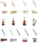 Vector Instruments of the Orchestra — Stock Vector