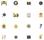 Car service icon set. Part 1 — Stock Vector