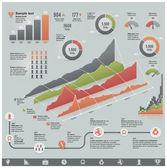 Vektör iş infographic öğeleri ile ilgili — Stok Vektör