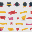 Vector ribbons and labels — Stock Vector