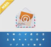 Universal glyphs. E-mail — Stock Vector