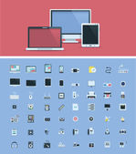 Computer hardware icon set — Stock Vector