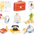 Vector business icon set — Stock Vector #8396447