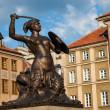 Statue of Siren on Warsaw market (city symbol) - Stock Photo