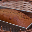 Ginger bread in cake tin — Stock Photo